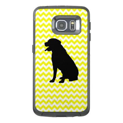 422x422 Lemon Yellow Chevron With Lab Silhouette Otterbox Samsung Galaxy