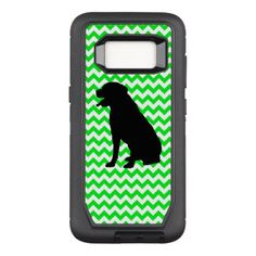 236x236 Fire Truck Red Chevron With Poodle Silhouette Otterbox Defender