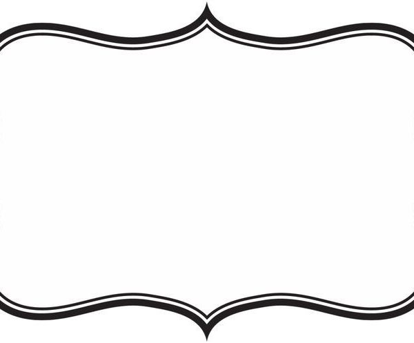 600x497 Label Frame Clipart Silhouette Clipart Images, Diy