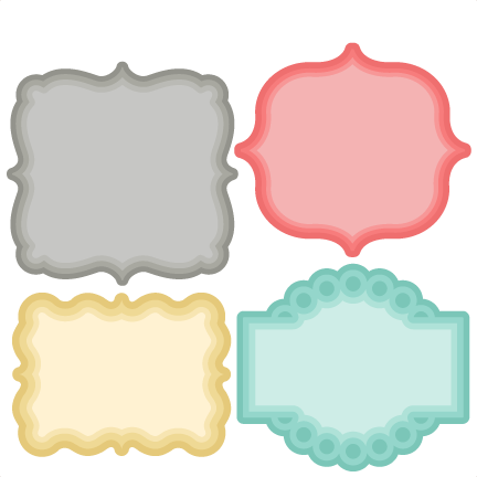 432x432 Layered Label Set Svg Scrapbook Cut File Cute Clipart Files