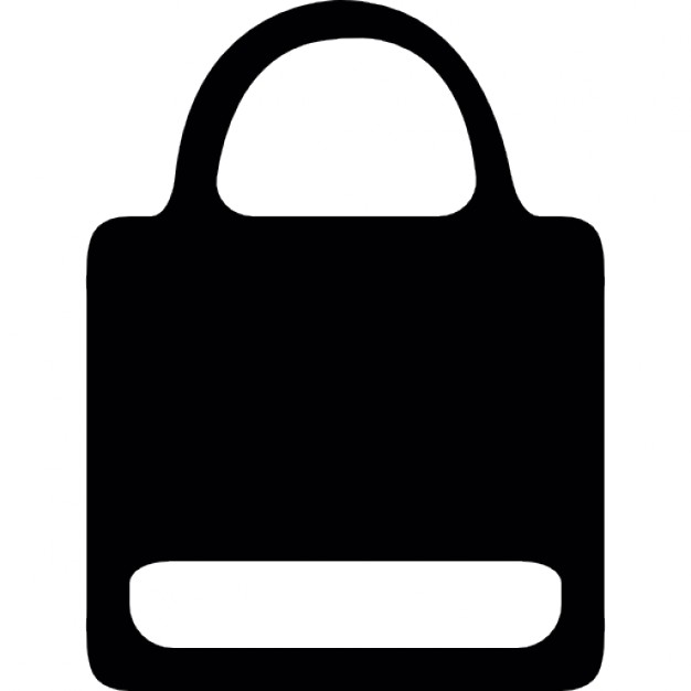 626x626 Paper Bag Silhouette With White Label Icons Free Download