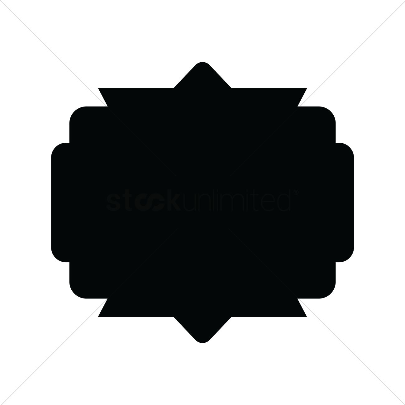 1300x1300 Retro Silhouette Label Vector Image