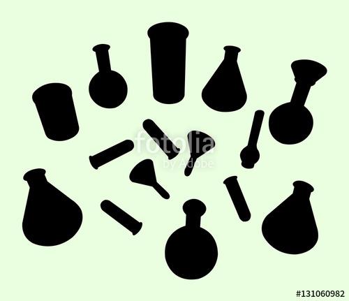 500x431 Lab Equipment Silhouette. Good Use For Symbol ,logo, Web Icon