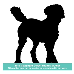 300x300 Labradoodle Dog Silhouette Gifts, Stationery, Address Labels