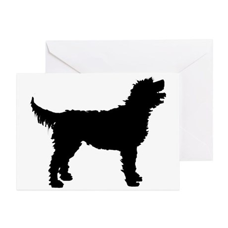 460x460 Labradoodle Greeting Cards