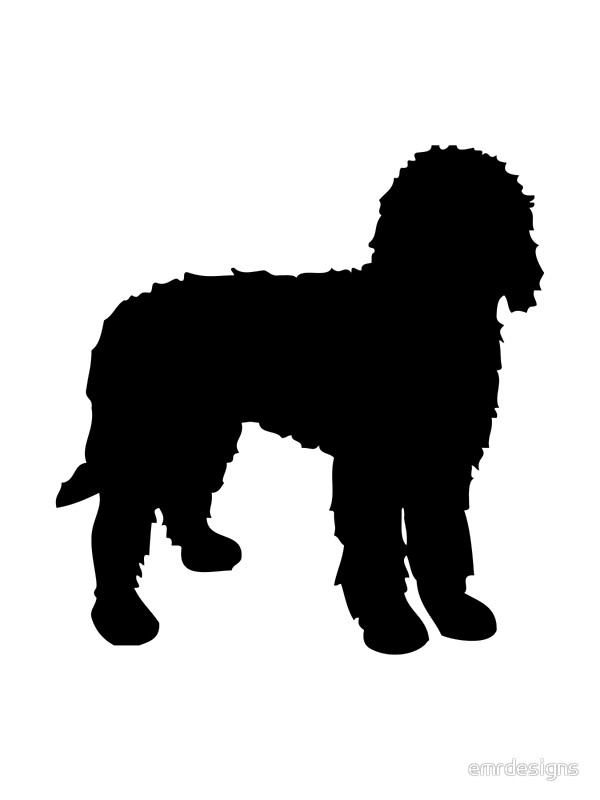 600x800 Labradoodle Silhouette Canvas Prints By Emrdesigns Redbubble