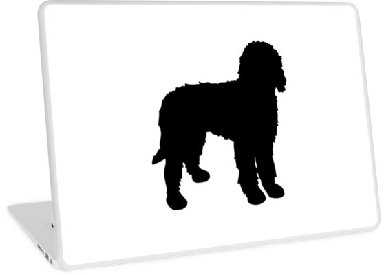 558x400 Labradoodle Silhouette Laptop Skins By Emrdesigns Redbubble