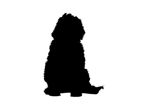 570x428 Labradoodle V1 Dog Breed Silhouette Custom Die Cut Vinyl Decal