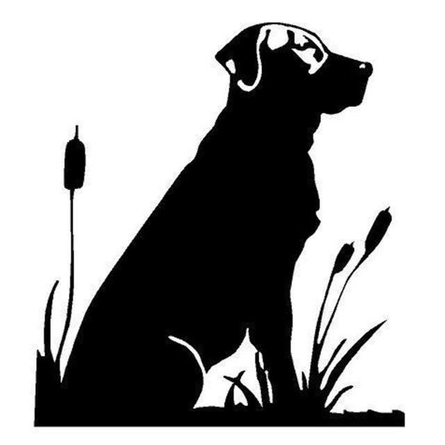 640x640 13.614.9cm Lab Cattails Hunt Dog Labrador Retriever Stickers