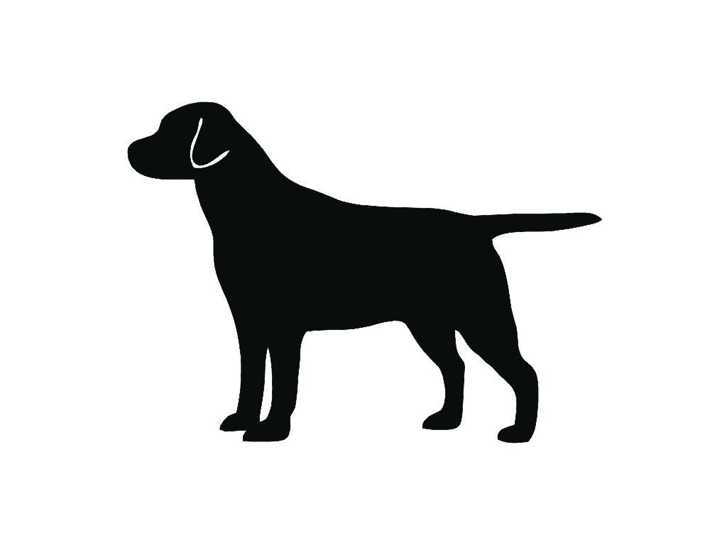 1024x768 Labrador Retriever Dog Breed Silhouette Custom Die Cut Vinyl