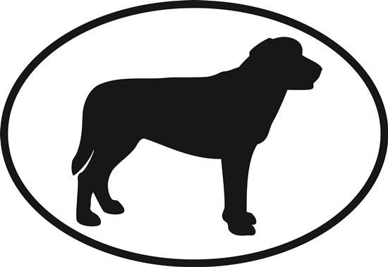 550x379 Labrador Retriever Oval Euro Bumper Sticker Oval Envy