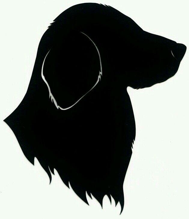 629x729 Lovely Labrador Head Silhouette Template Stencil Sjabloon.
