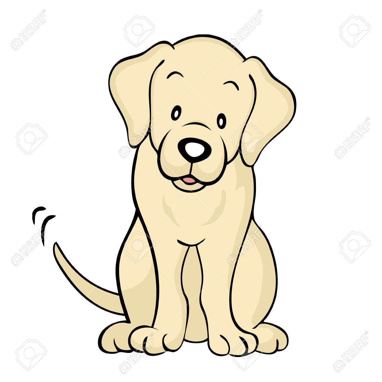 Labrador Puppy Silhouette at GetDrawings.com | Free for personal use ...