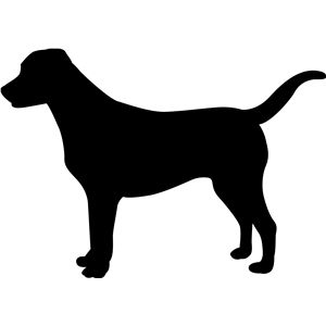 Labrador Retriever Head Silhouette