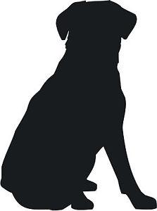 223x300 Labrador Retriever Sit Dog Decal Sticker Car Van Vinyl Silhouette