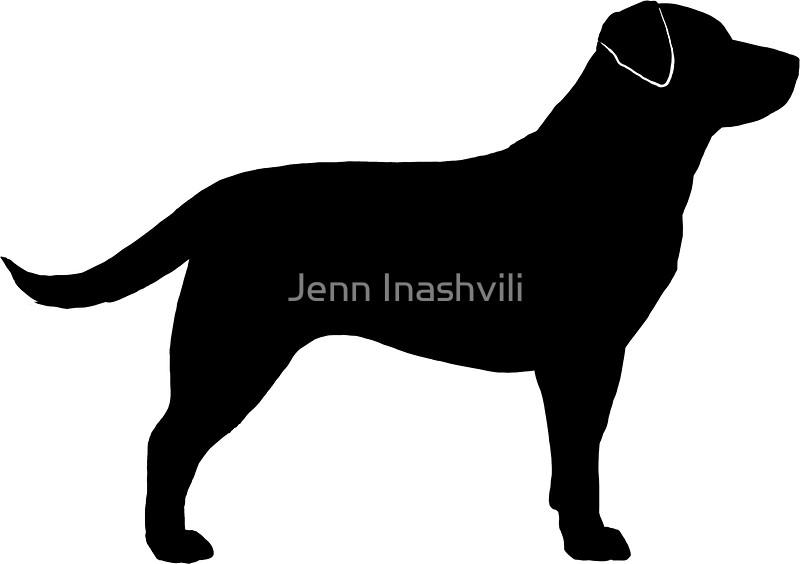 800x564 Black Labrador Retriever Silhouette(S) Stickers By Jenn Inashvili