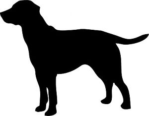 300x234 18 X Machine Cut Dog Labrador Standing Silhouette Craft Card