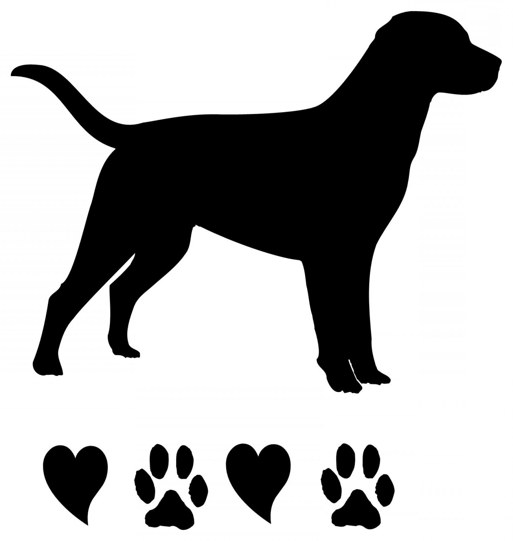 labrador silhouette at getdrawings com free for personal use rh getdrawings com black lab face clip art black lab puppy clip art