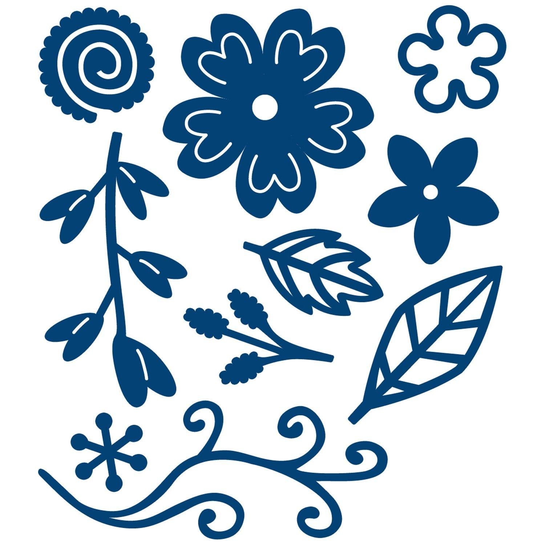 1500x1500 Tattered Lace Sentiment Florals Die Set Cutting Dies