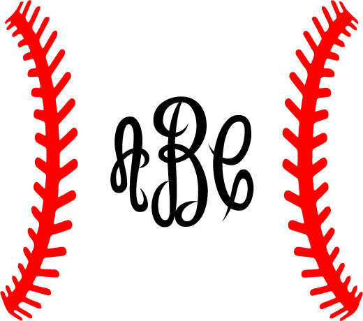 520x460 Baseball Laces Svg Baseball Monogram Frame Svg Silhouette