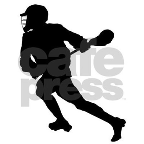 460x460 Lacrosse Player Silhouette Pillow Case By Coolsportsdesigns