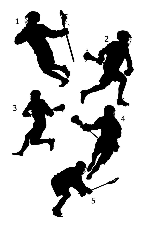 971x1500 Lacrosse Sports Silhouette Lacrosse Player