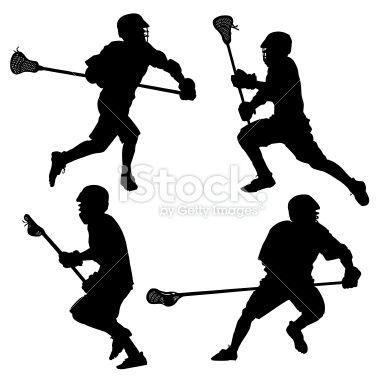 380x380 Lacrosse Silhouette Clip Art