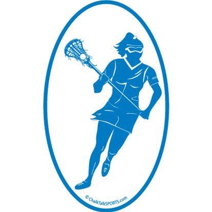 414x414 Girls Lacrosse Car Magnets Lulalax