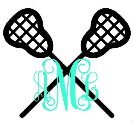 445x438 Lacrosse Monogram Decal By Monogrammadnesskayla On Etsy Lacrosse