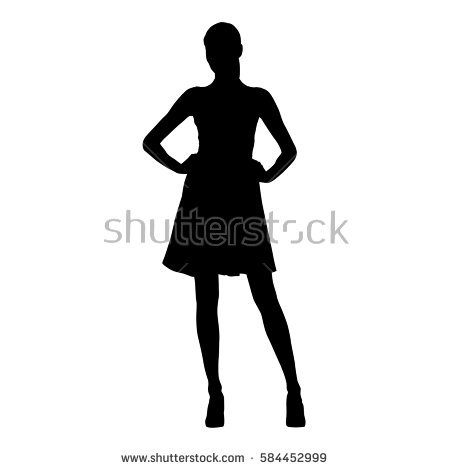 450x470 Lady Heels Silhouette Clipart Collection