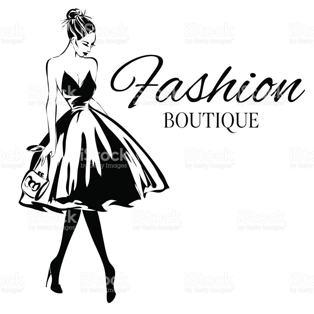 1024x1024 Fashion Clipart Black White
