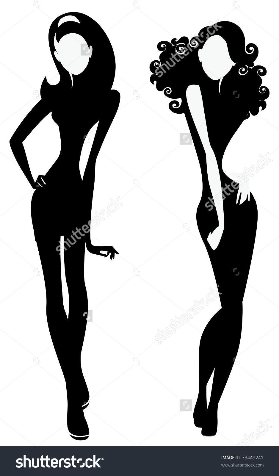 938x1600 Fashion Silhouette Clipart
