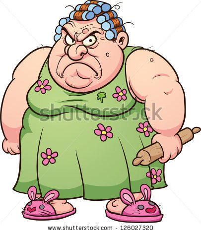 405x470 Fat Lady Clipart