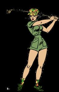 Lady Golfer Silhouette