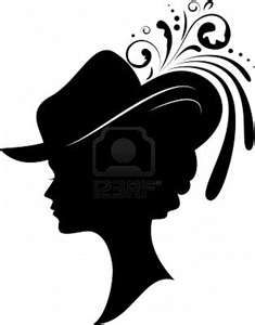 235x300 Lady In Feather Hat Silhouette Crafts Coloring And Printables