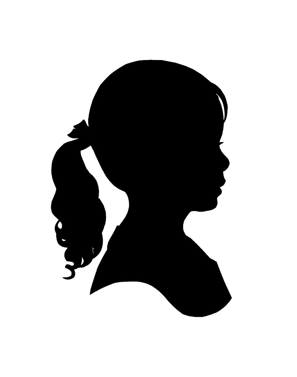 960x1218 Little Girl Silhouette Clip Art