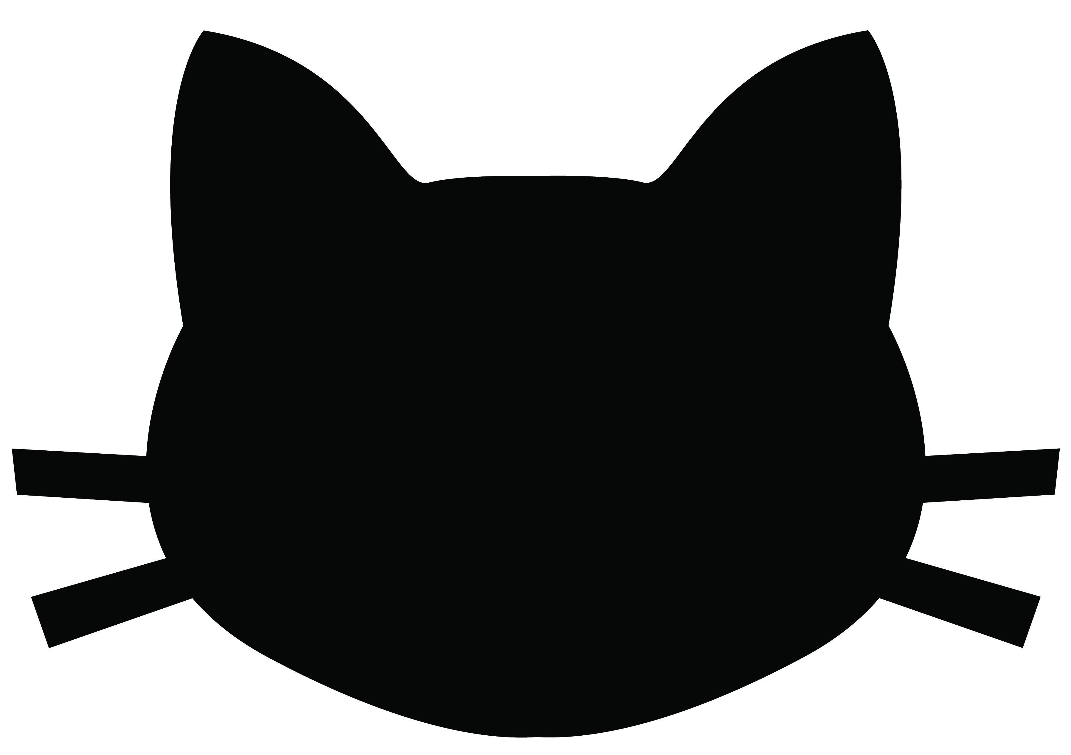 3600x2538 Cat Head Silhouette