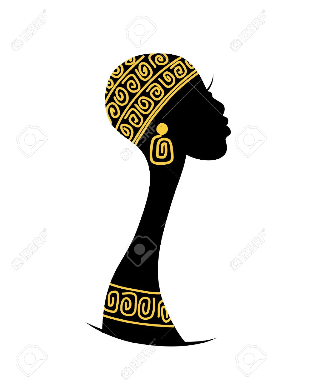 1040x1300 African Woman Silhouette