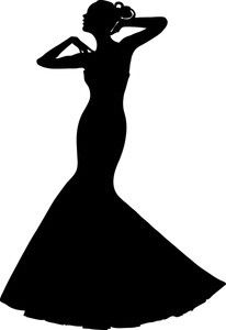 Lady In Dress Silhouette