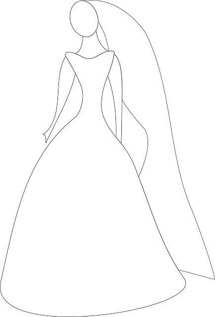 434x640 Outline, Lady, Silhouette, Woman, Wedding, Bride, White