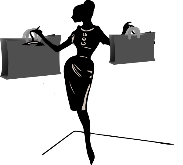 600x541 Lady Shopping Clip Art