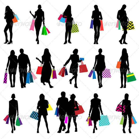 590x590 Shopping Silhouettes By Snja Graphicriver