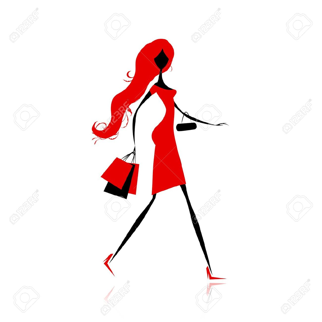 1300x1300 Shopping Bag Clipart Silhouette Collection