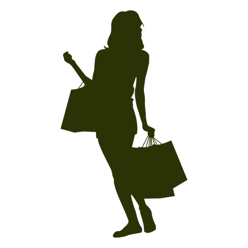 512x512 Woman Shopping Silhouette Png. Silhouette Of People Shopping In