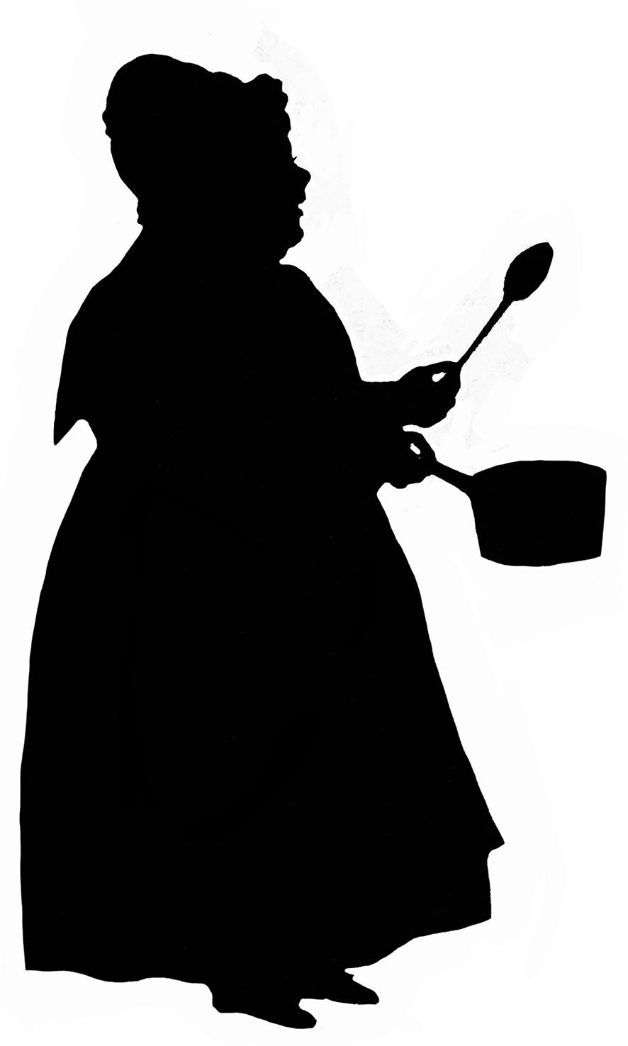 886x1476 Victorian Silhouette Clipart