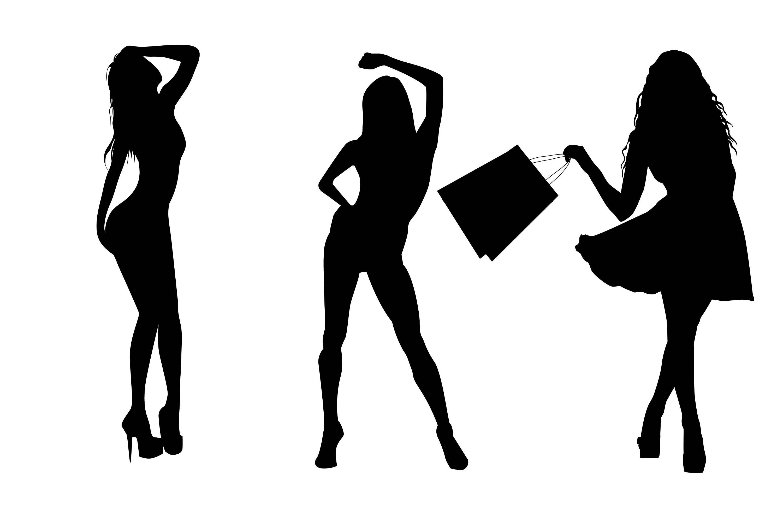 3000x2000 Woman Silhouette Svg, Women Clip Art, Lady Silhouette, Fashion