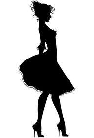 192x283 Young Lady Silhouette Siluetas Sassy Girl