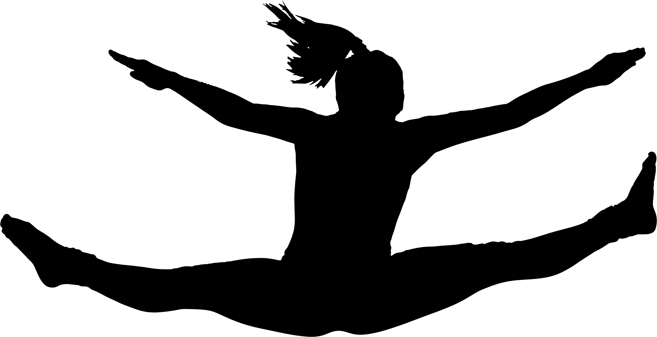 2256x1159 Clipart Girl Silhouette