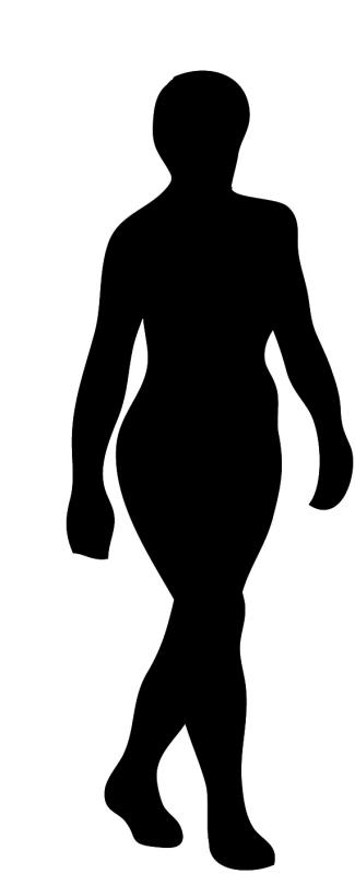 325x800 Lady Silhouette Clip Art Related Images
