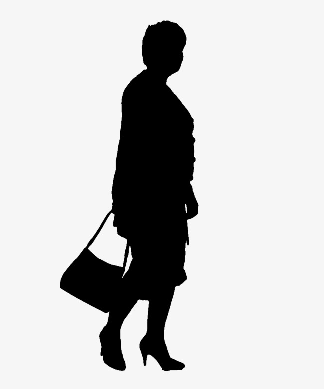 650x781 Bag Lady Silhouette, Old People, Sketch Png Image And Clipart